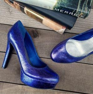 G BY GUESS Cannor Metallic Platform Pump Heel